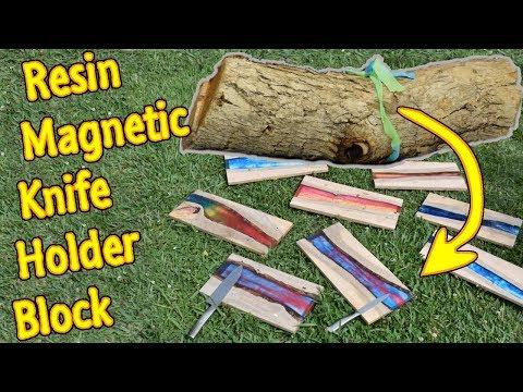 Resin Magnetic Knife Holder Block