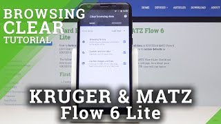 How to Delete Browser History in KRUGER & MATZ Flow 6 Lite - Restore Browser Factory Settings