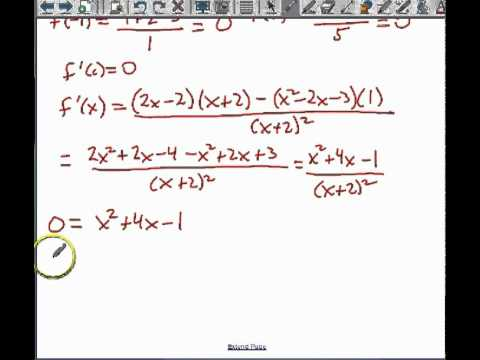 Rolle's Theorem & The Mean Value Theorem - YouTube