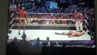 Cesaro turns on Jack Swagger WRESTLEMANIA 30