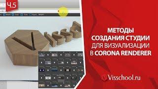 Способы создания студии в Corona. Материаловедение в 3D графике Corona студия