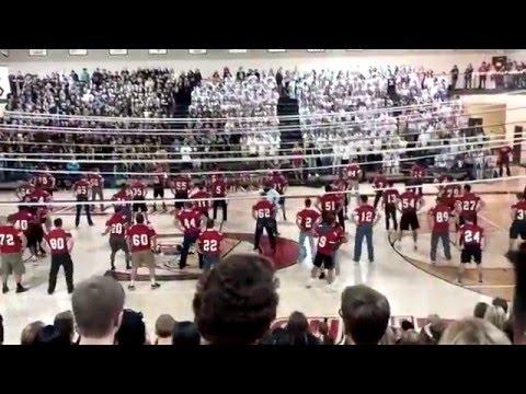 Lakeville South High School Pep Fest 2015- CDT/Football dance