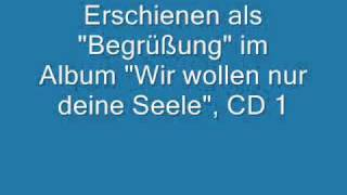 Begrüßung am Ärzte-Konzert am 12.10.98 in Mannheim