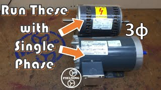 Three Ways To Run A Three Phase Motor On Single Phase, And the Pro's and Con's of Each Method #067