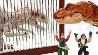 Dinosaurs Rescue The Prison-Trapped Dinosaurs! Indominus VS T-Rex! Dinos For Kids