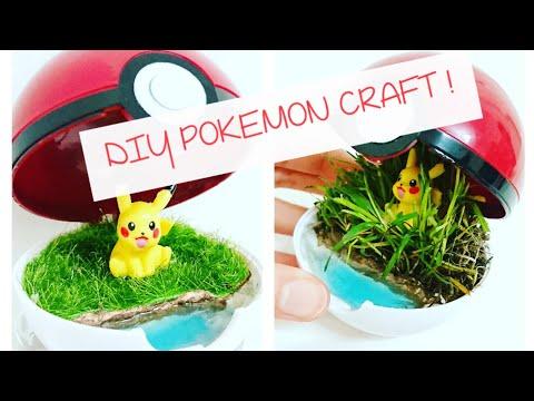 DIY Pokemon Terrarium | UV Resin Crafts | Artificial Terrarium Miniature Model Scenery