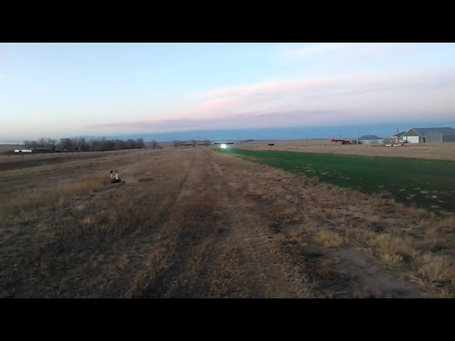 RANS S7 lands Runway 17 at the Calhan Colorado Airport, under command of Gravity Knight Flying.