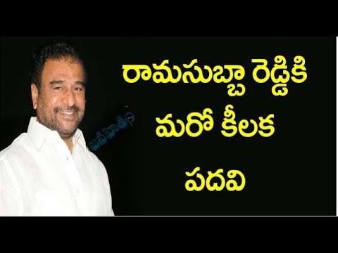 TDP Gives Key Position To Rama Subba Reddy | రామసుబ్బారెడ్డికి మరో కీలక పదవి | Janahitam TV