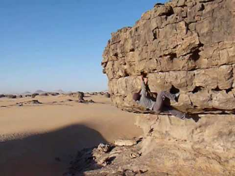 Hoggar Mountains and Rock Climbing in the Sahara
