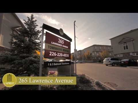 Kitchener Townhomes for Rent - 265 Lawrence Avenue