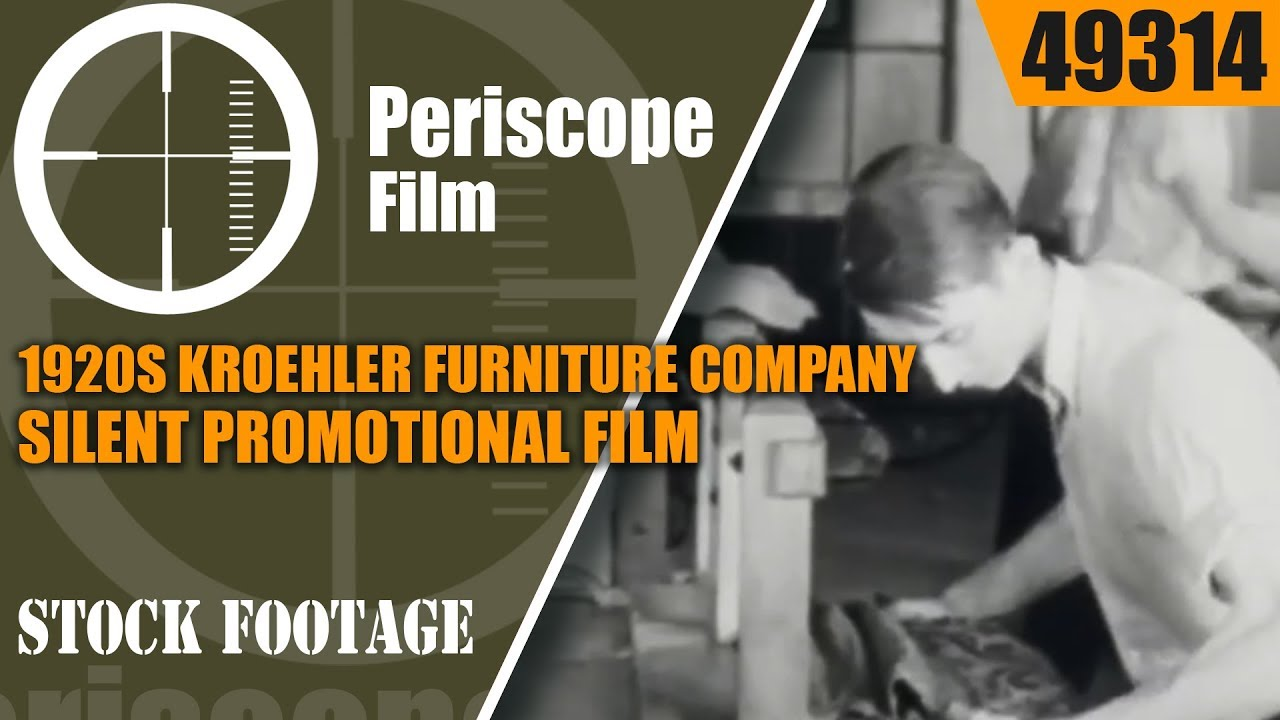 1920s Kroehler Furniture Company Silent Promotional Film Part 2