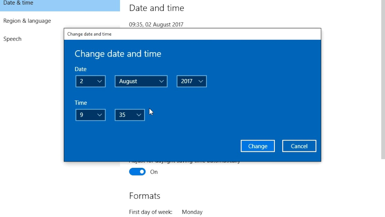 How to Change Time Zone in Windows 10