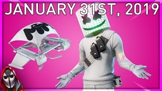 MARSHMELLO?!?! January 31st New Skins || Daily Fortnite Item Shop