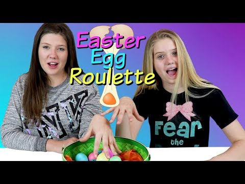 EASTER EGG ROULETTE CHALLENGE || Taylor and Vanessa