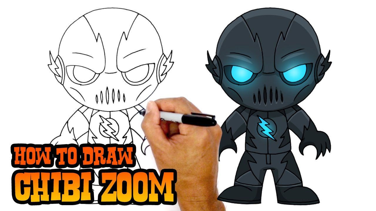 How To Draw Zoom Dc Comics Youtube