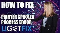 How to fix Spooler Subsystem App error