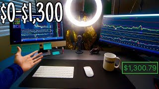 $0 To $1,300 Profit Day Trading In The Stock Market