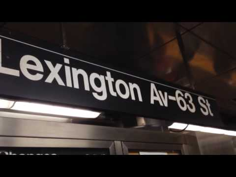 IND 63rd St Line: Lexington Ave-63rd St Station Tour (w/ R160A/B (F) and (Q) Trains)