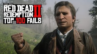 TOP 100 FUNNIEST FAILS IN RED DEAD REDEMPTION 2