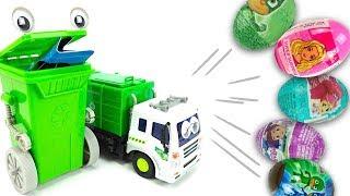 Зеленый контейнер превращает мусор в сюрпризы и игрушки