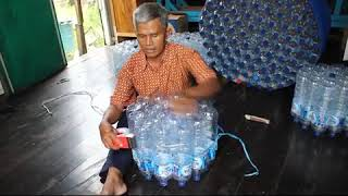 .ALFA GAMA : Membuat kursi dan meja dari botol / TUTORIAL MAKE CHAIRS FROM BOTTLE
