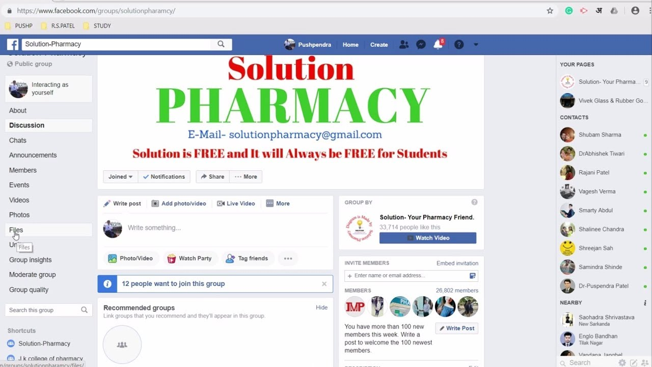How to Download Notes in PDF from Solution Pharmacy Facebook Group