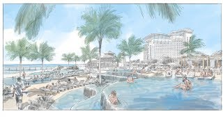 Rendering w/ Sketchup & Procreate: A Resort in the Bahamas