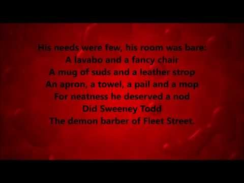 The Ballad of Sweeney Todd Karaoke / Instrumental Sweeney Todd