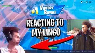 Reacting to My Lingo.. LOL