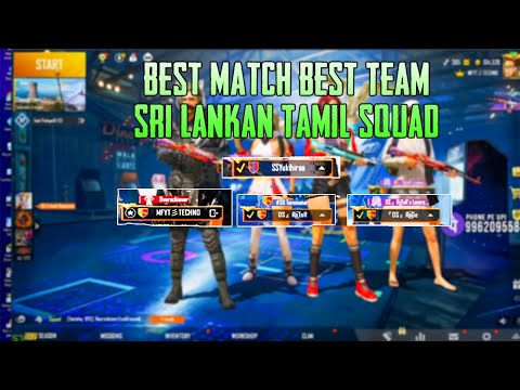 Sri Lankan Tamil Squad OP Gameplay 🔥 Best TeamWork 😍