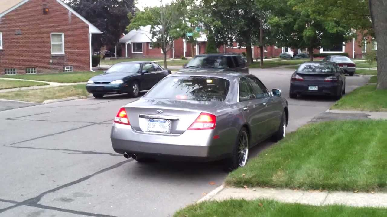 03 infiniti m45 with modded exhaust youtube 03 infiniti m45 with modded exhaust youtube vanachro Choice Image