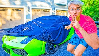 Hiding Lamborghini Sharerghini at Top Secret Location!! (Pond Monster Twins Will Never Find It)
