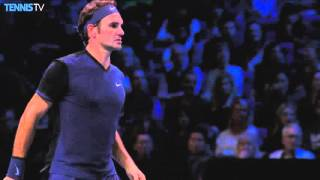 Federer Hits Hot Drop Shot Against Berdych