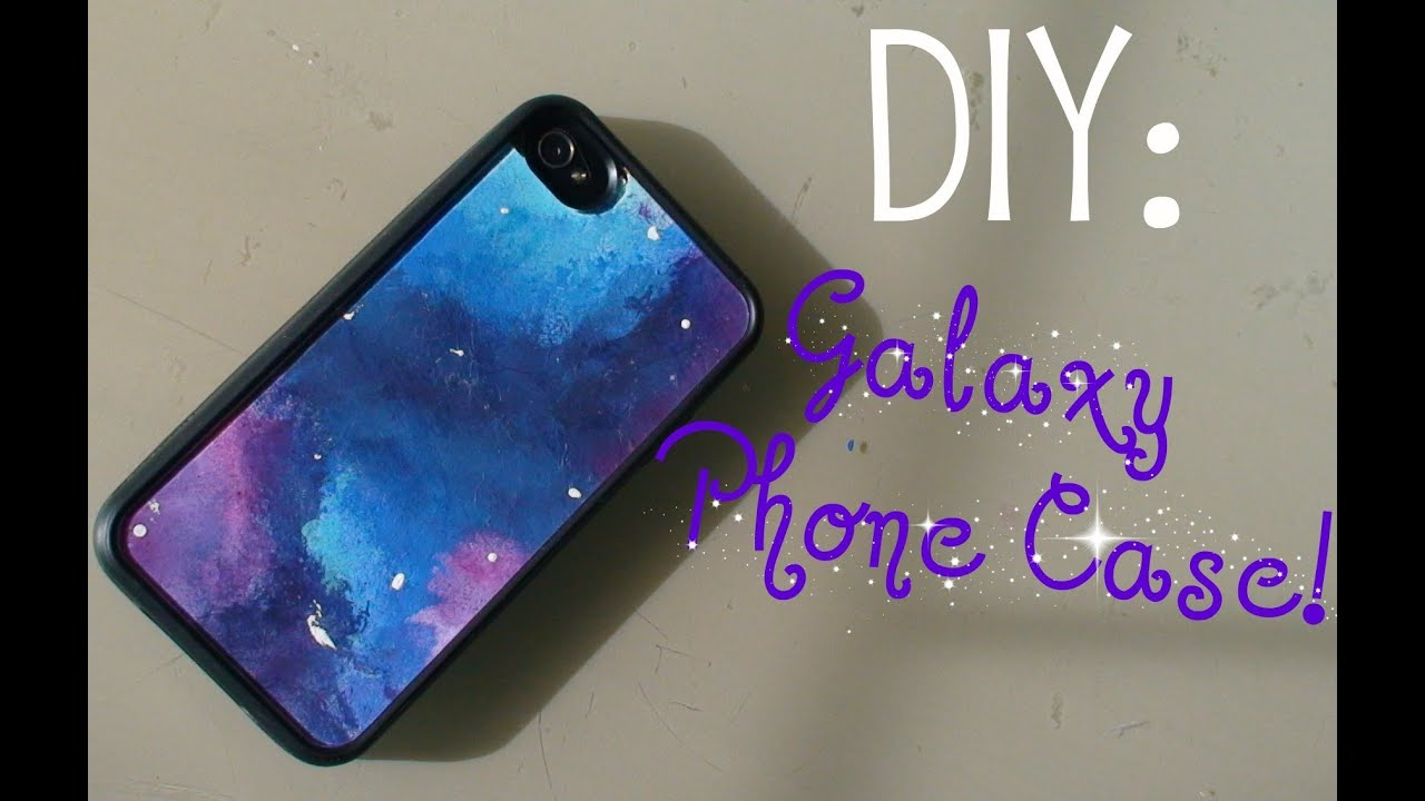 How to how to decorate your phone case with nail polish : DIY: Galaxy Phone Case! - YouTube