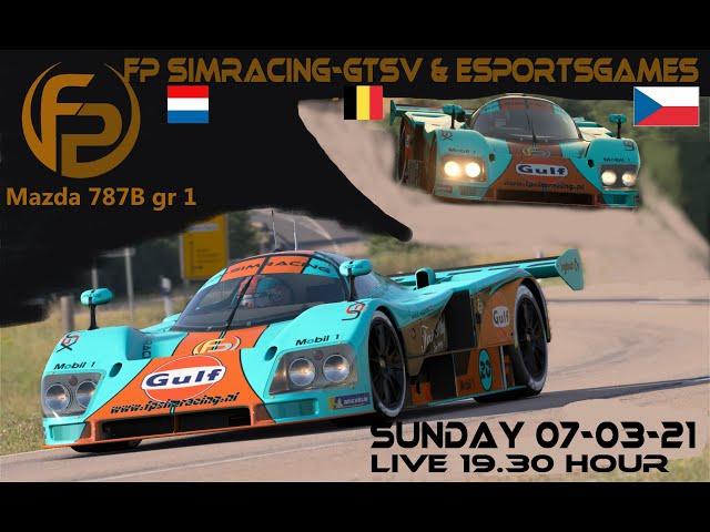 Livestream FP SimRacing TvT GTSV vs Esportgames