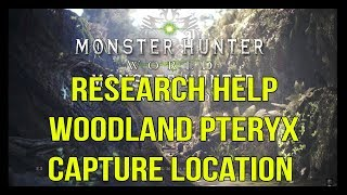 Monster Hunter World - Research Help: Woodland Pteryx Capture