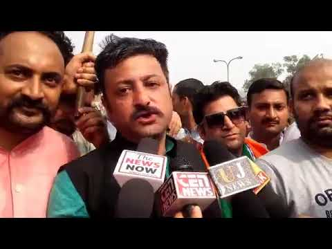 President, Team Jammu, Zorawar Singh speaks to media after the protest march.