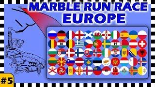 Country Balls Marble Run Race Europe - Race 5 of 6 - Algodoo