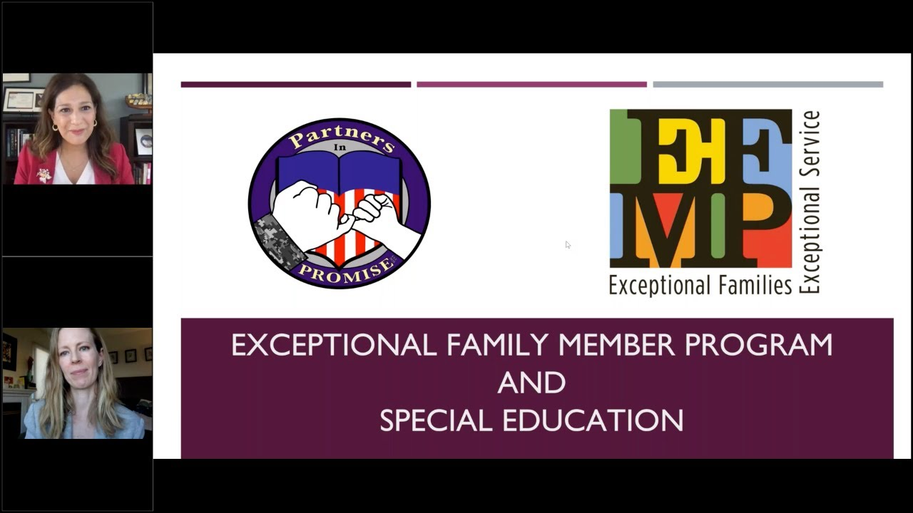 CORE and Partners in PROMISE goes Virtual with EFMP Special Education Webinar