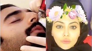 مريم حسين تنشر فيديو لزوجها أثناء إجراء عمليات تجميل