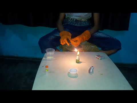 Experiment Burning Of Magnesium Ribbon And Test Of Natural And Chemical Change
