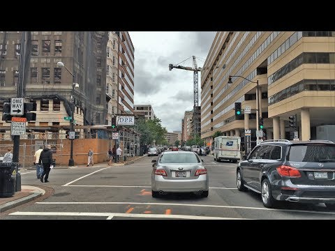 Driving Downtown - Wealthy DC 4K - Washington DC USA