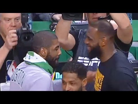 LeBron James Exchanges Words with Kyrie Irving After Cavaliers Blow Out Celtics (Parody)