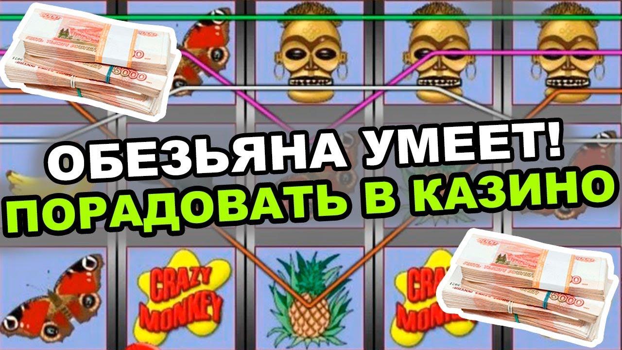 Обезьяна умеет порадовать!! Игровой автомат crazy monkey в казино онлайн!!
