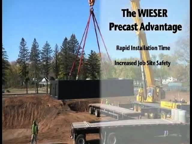 Wieser Precast Tank Install