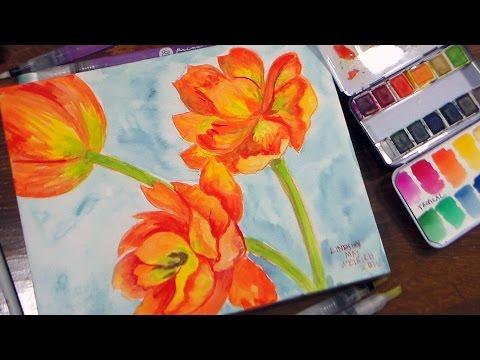 PRIMA Watercolors//Coloring Book//Waterbrushes//Watecolor Panel REVIEW & Tutorial