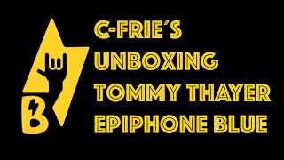 Tommy Thayers Epiphone Blue Unboxing