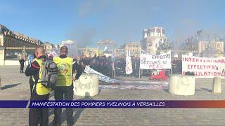 Yvelines | Manifestation des pompiers yvelinois à Versailles