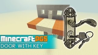 Door Lock - Door with working Key - Item Reader - Minecraft