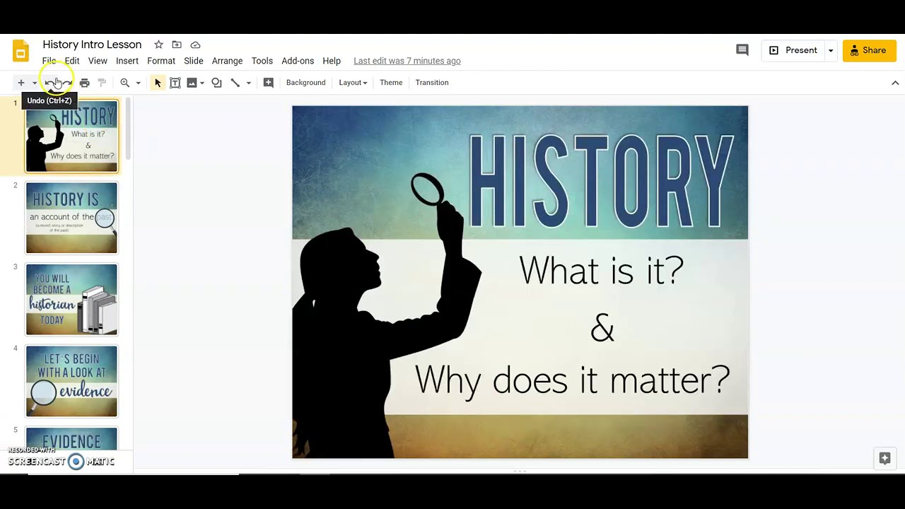 What is History and Why Does it Matter: Video Demo